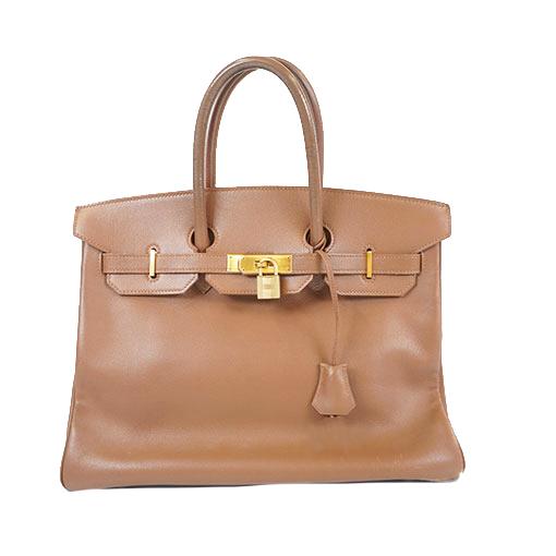エルメス ハンドバッグ バーキン35 □A刻印 クシュベル アルザン ゴールド金具