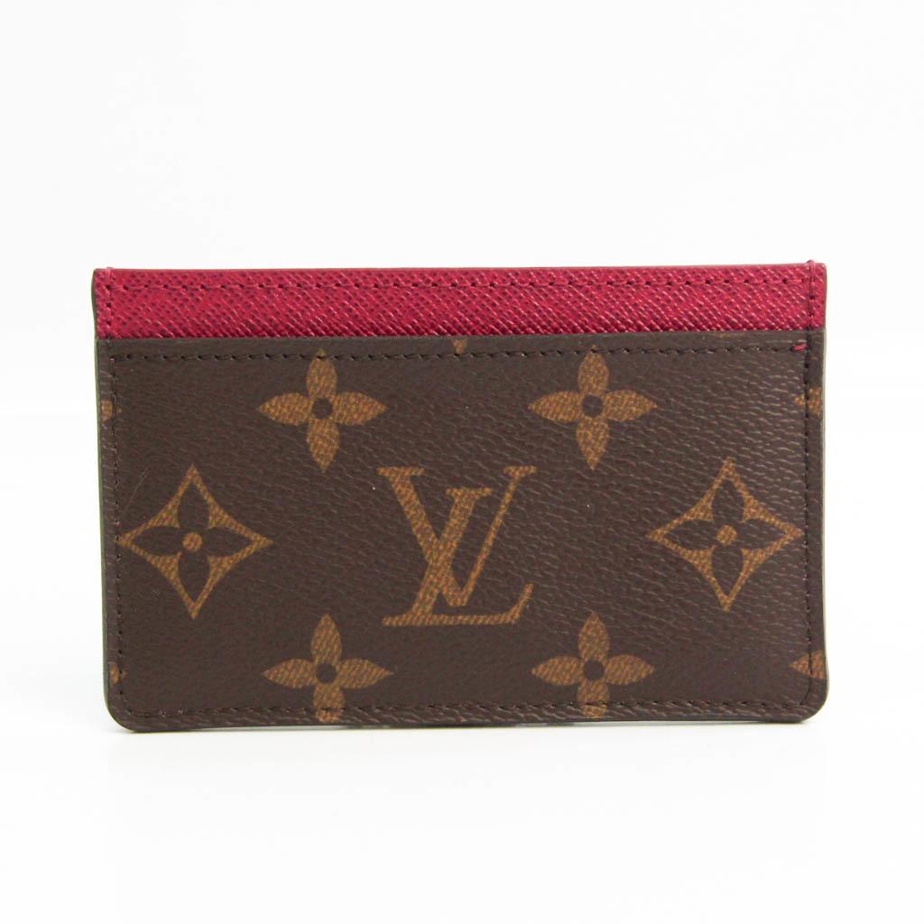 ルイ・ヴィトン(Louis Vuitton) モノグラム ポルト カルト サーンプル M60703 モノグラム カードケース フューシャ,モノグラム