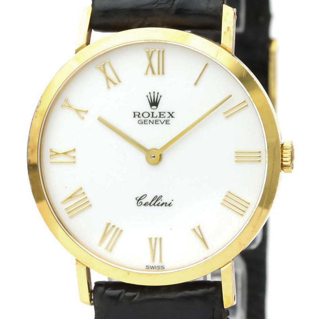 ロレックス(Rolex) チェリーニ 手巻き K18イエローゴールド(K18YG) メンズ ドレスウォッチ 4112