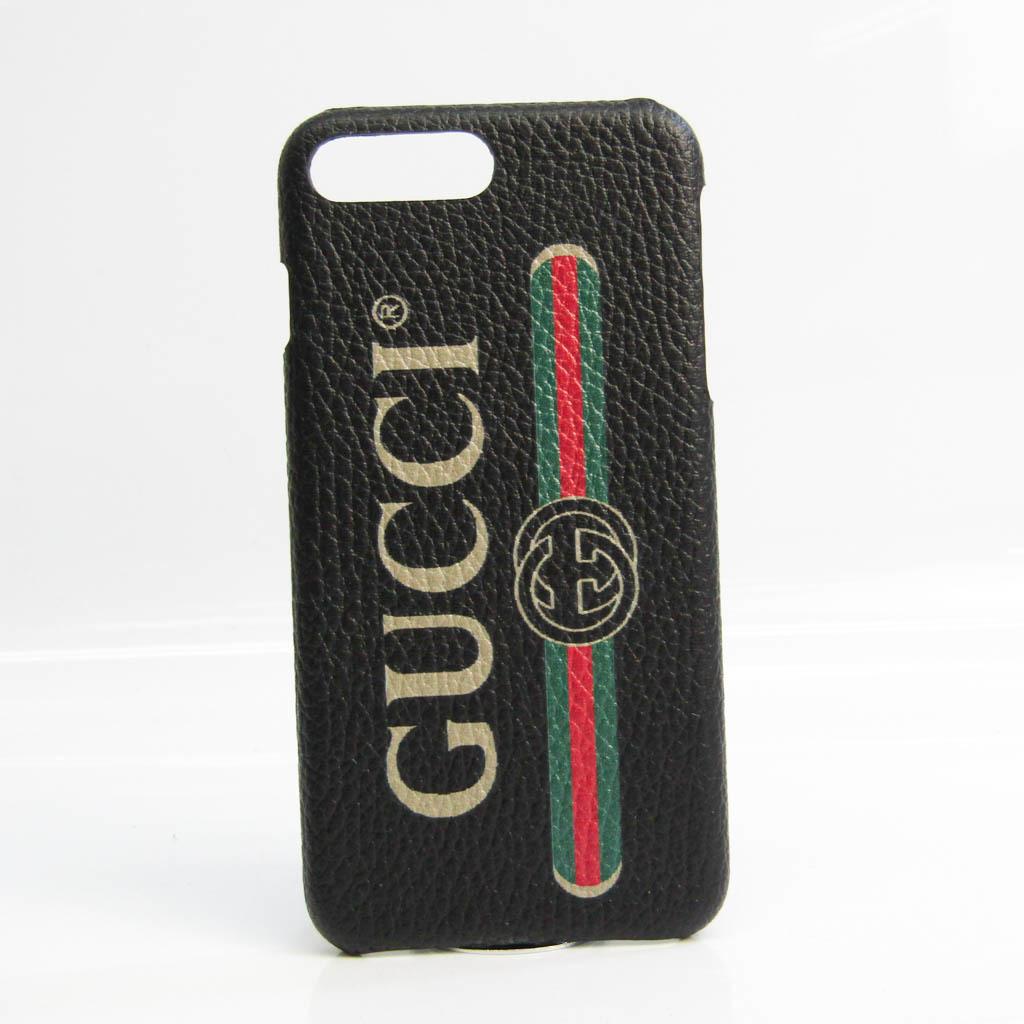 グッチ(Gucci) ロゴプリント 549079 レザー バンパー iPhone 7 Plus 対応 ベージュ,ブラック,グリーン,レッド