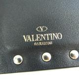 ヴァレンティノ・ガラヴァーニ(Valentino Garavani) ロックスタッズ コインケース レザー カードケース ブラック