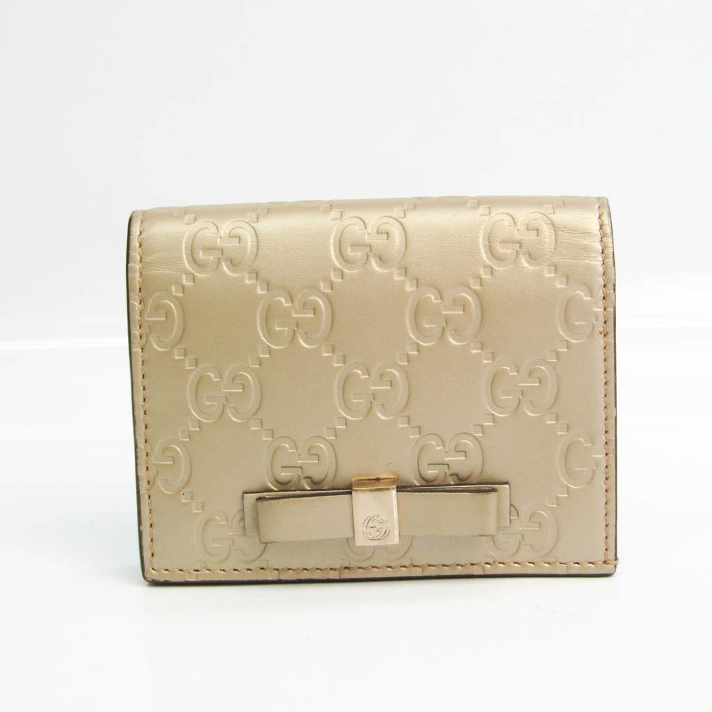 グッチ(Gucci) グッチッシマ 406924 レザー カードケース ゴールド