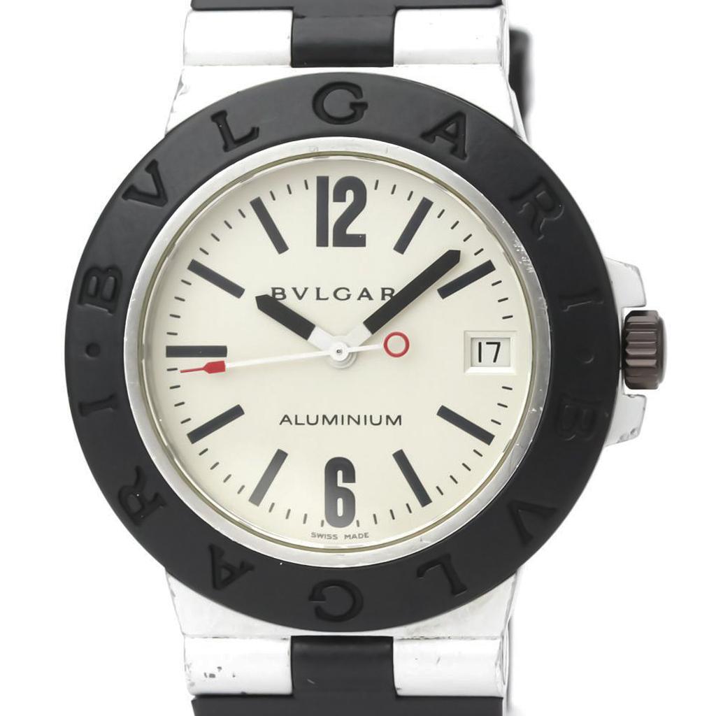 【BVLGARI】ブルガリ アルミニウム ラバー 自動巻き メンズ 時計 AL38A