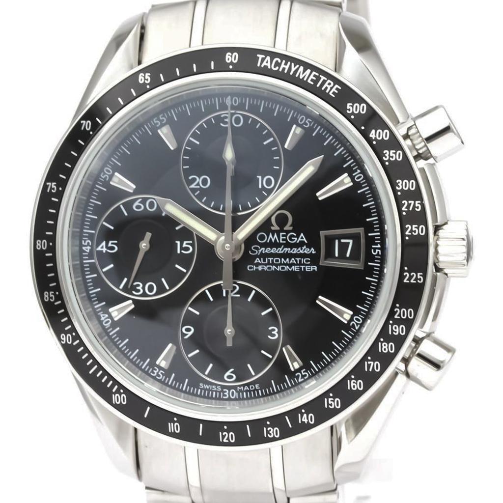 【OMEGA】オメガ スピードマスター デイト ステンレススチール 自動巻き メンズ 時計 3210.50