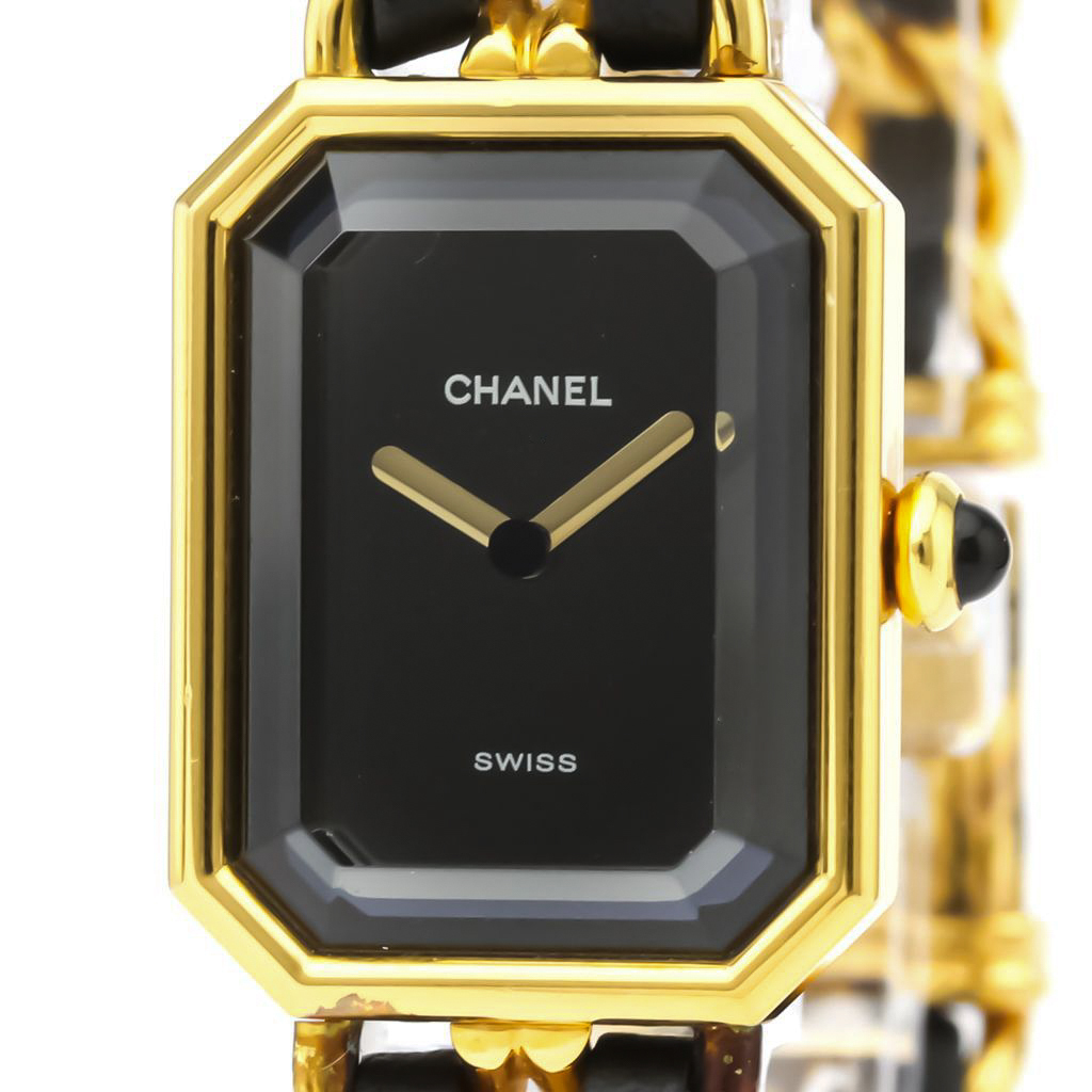 Chanel Premiere Quartz Gold Plated Women's Dress Watch H0001