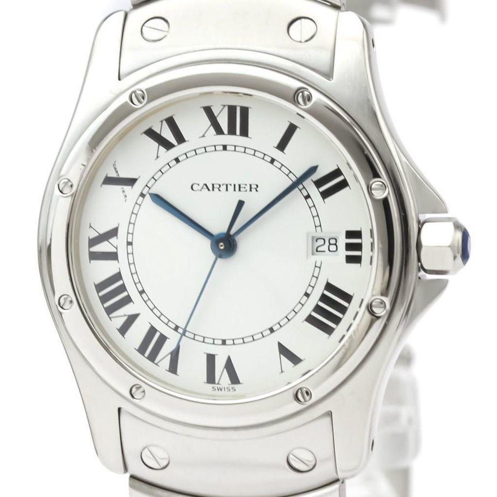 カルティエ(Cartier) サントス クーガー クォーツ ステンレススチール(SS) ユニセックス ドレスウォッチ W20027K1
