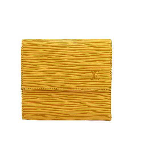 ルイヴィトン 三つ折り財布 エピ ポルトモネビエカルトクレディ M63489 ジョーヌ