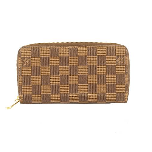 ルイヴィトン 二つ折り長財布 ダミエ ジッピーウォレット N60046 ローズバレリーヌ