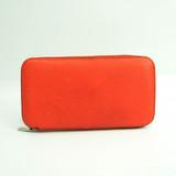 ヴァレクストラ(Valextra) V9L06 ユニセックス レザー 長財布(二つ折り) オレンジ