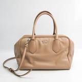 Prada Inside Bag 1BB010 Women's Leather Handbag,Shoulder Bag Beige,Pink