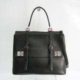 Prada Women's Leather Handbag,Shoulder Bag Black