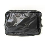 ボッテガ・ヴェネタ(Bottega Veneta) 245372 メンズ,ユニセックス レザー,ナイロン ポーチ ブラック,ダークブラウン