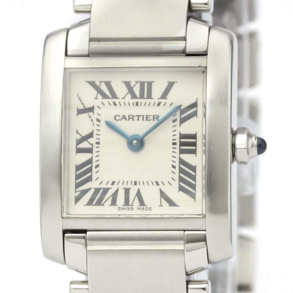 Cartier Tank Francaise Quartz Stainless Steel Women's Dress Watch W51008Q3