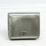 バレンシアガ(Balenciaga) 601474 レディース レザー 財布(二つ折り) シルバー