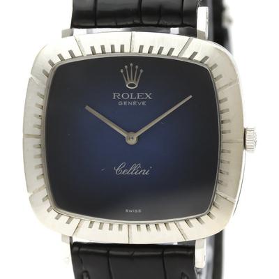 Rolex Cellini Mechanical White Gold (18K) Men's Dress Watch 4084