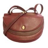 Auth Cartier Must Women's Leather Shoulder Bag Bordeaux