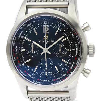 BREITLING Transocean Chronograph Unitime Automatic Mens Watch AB0510