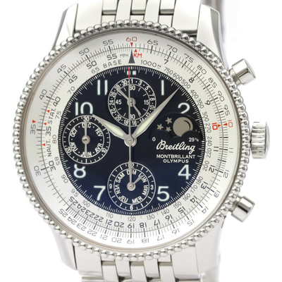 Breitling Montbrillant Automatic Stainless Steel Men's Sports Watch A19350