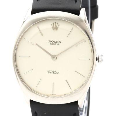 Rolex Cellini Mechanical White Gold (18K) Men's Dress Watch 4133