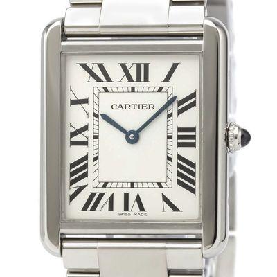 Cartier Tank Solo Quartz Stainless Steel Men's Dress Watch W5200014