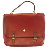 Auth Cartier Must Clutch Bag Men's Leather Briefcase Bordeaux