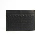 ボッテガ・ヴェネタ(Bottega Veneta) イントレチャート レザー カードケース ブラック