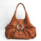 Bvlgari Chandra Women's Leather Tote Bag Brown