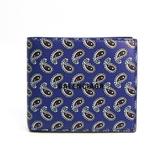 バレンシアガ(Balenciaga) キャッシュ スクエアウォレット ペイズリー柄 594315 メンズ レザー,コーティングキャンバス 財布(二つ折り) ブラック,パープル
