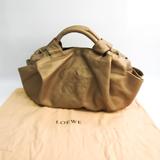 ロエベ(Loewe) ナッパアイレ レディース レザー ハンドバッグ ゴールド