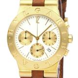 BVLGARI Diagono Sport Chronograph 18K Gold Quartz Watch CH35G