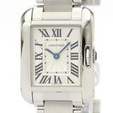 カルティエ(Cartier) タンクアングレーズ クォーツ ステンレススチール(SS) レディース ドレスウォッチ W5310022