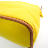 Hermes Bolide MM Women's Cotton,Leather Pouch Brown,Yellow