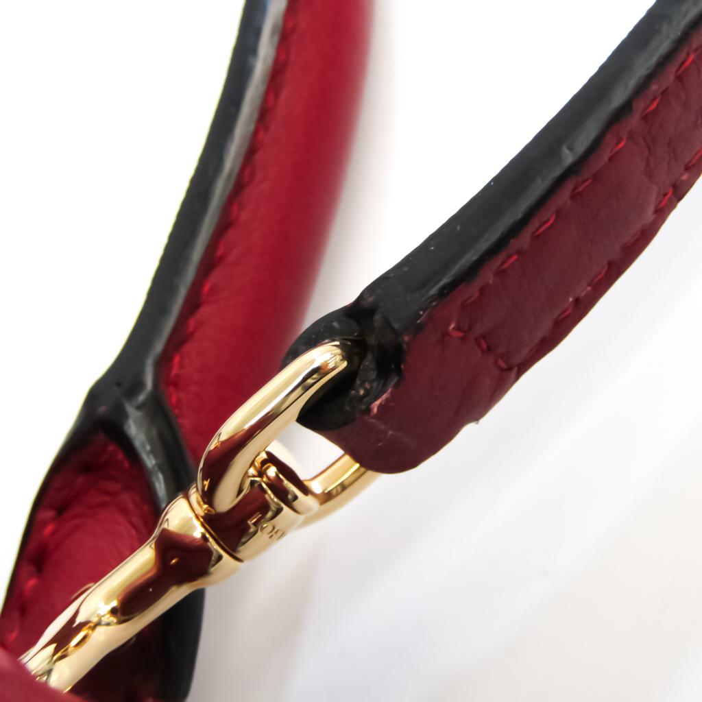 Loewe Amazona 75 Anagram 301.55.L01 Women's Leather Handbag,Shoulder Bag Dark Red