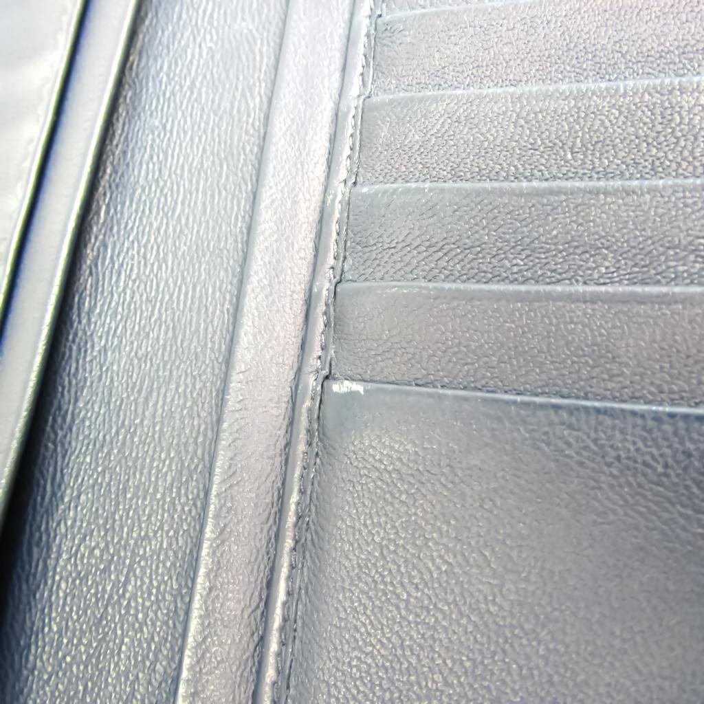 Bottega Veneta Intrecciato Men's Leather Long Bill Wallet (bi-fold) Navy