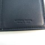 ボッテガ・ヴェネタ(Bottega Veneta) イントレチャート メンズ レザー 長札入れ(二つ折り) ネイビー