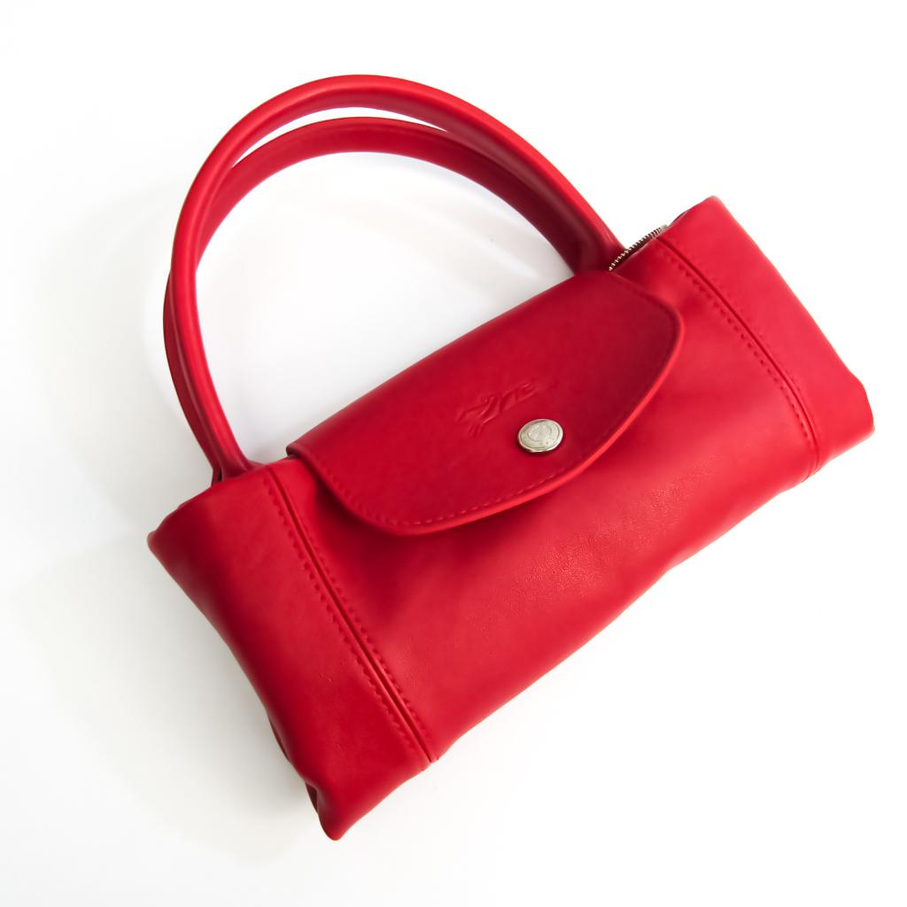 Longchamp Le Pliage CUIR 1512 737 045 Women's Leather Handbag,Shoulder Bag Red Color