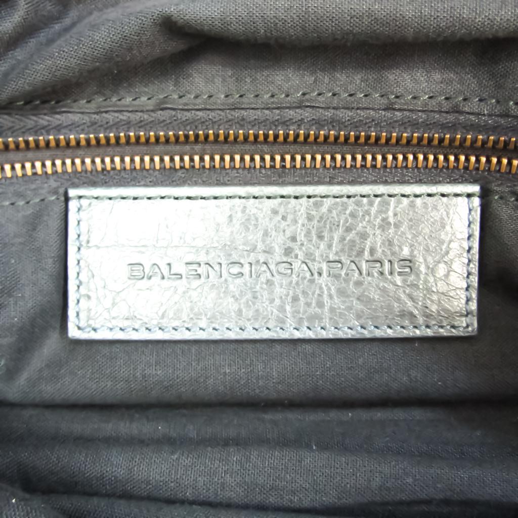 Balenciaga Twiggy 128523 Women's Leather Handbag,Shoulder Bag Gray Khaki