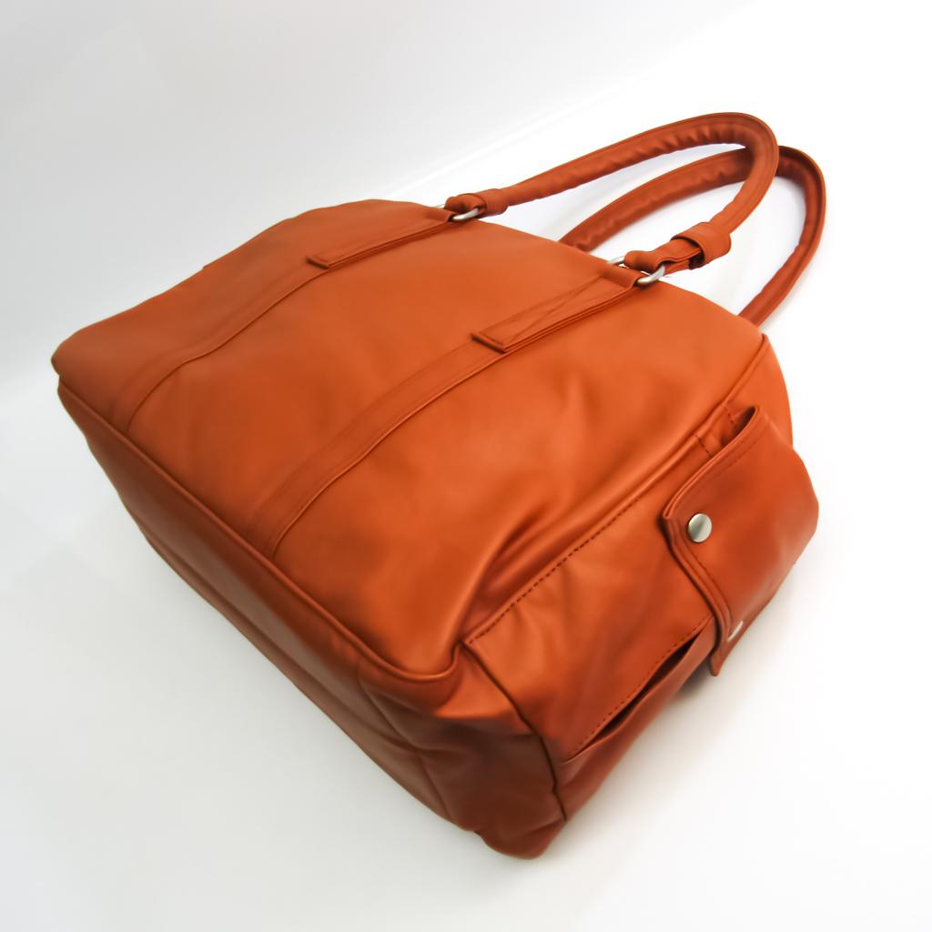 Porter Unisex Coated Canvas Handbag Brown