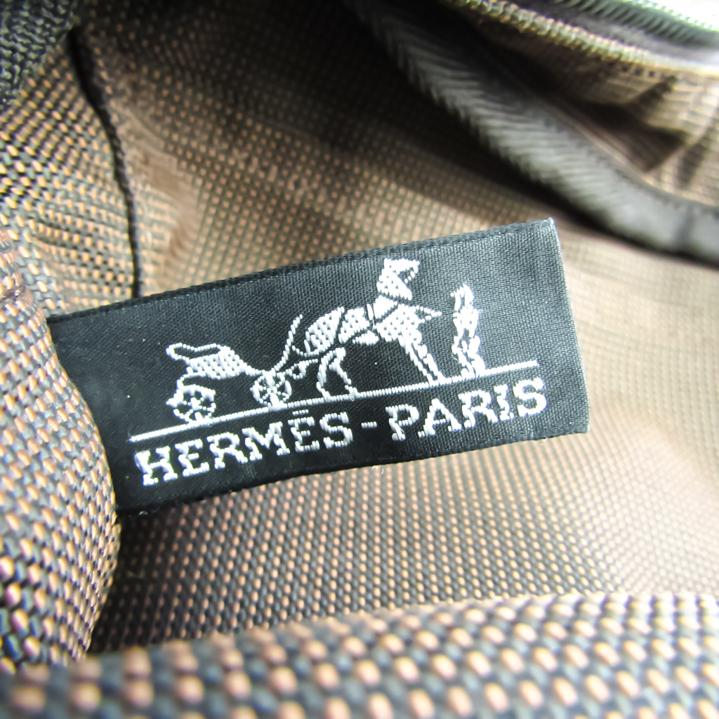 Hermes Her Line PM Unisex Polyamide,Polyester Tote Bag Brown