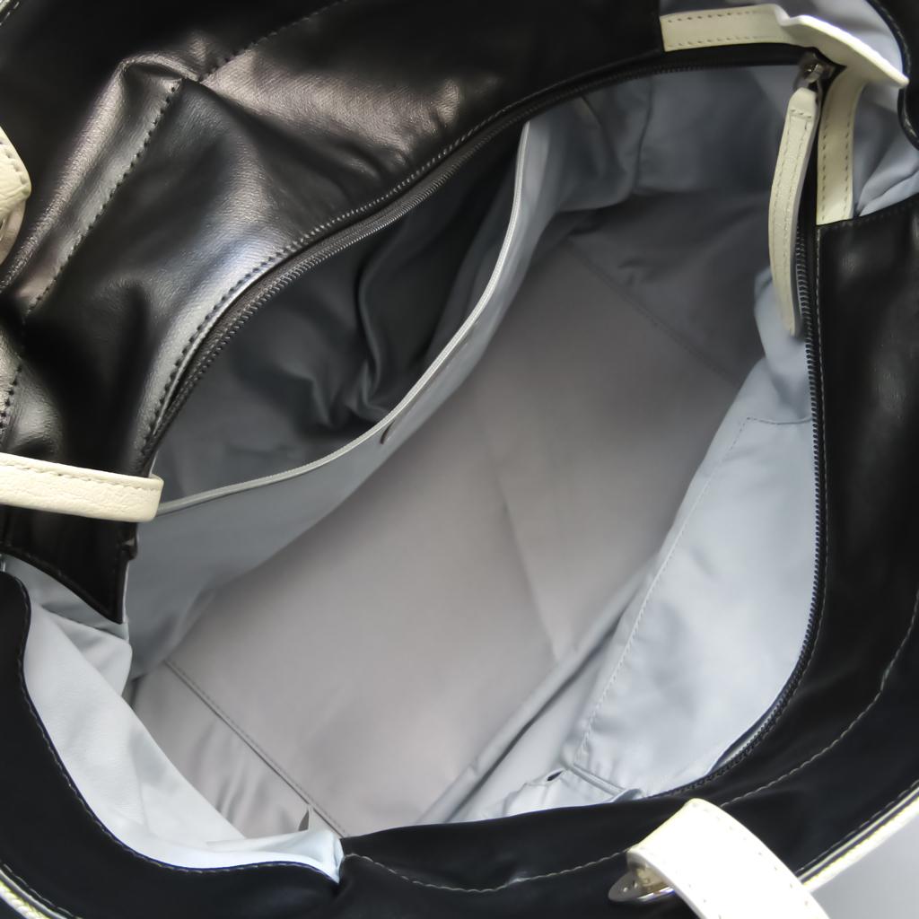 Chanel Paris Biarritz MM Canvas,Coated Canvas Tote Bag Cream,Metallic Gray
