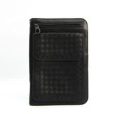Bottega Veneta Intrecciato Men's Leather Clutch Bag Black