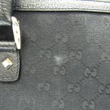 グッチ(Gucci) GGキャンバス 131024 レディース キャンバス,レザー ハンドバッグ ブラック