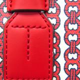 トリーバーチ(Tory Burch) ジェミニリンク レディース レザー,PVC ハンドバッグ,ショルダーバッグ クリーム,オフホワイト,レッド