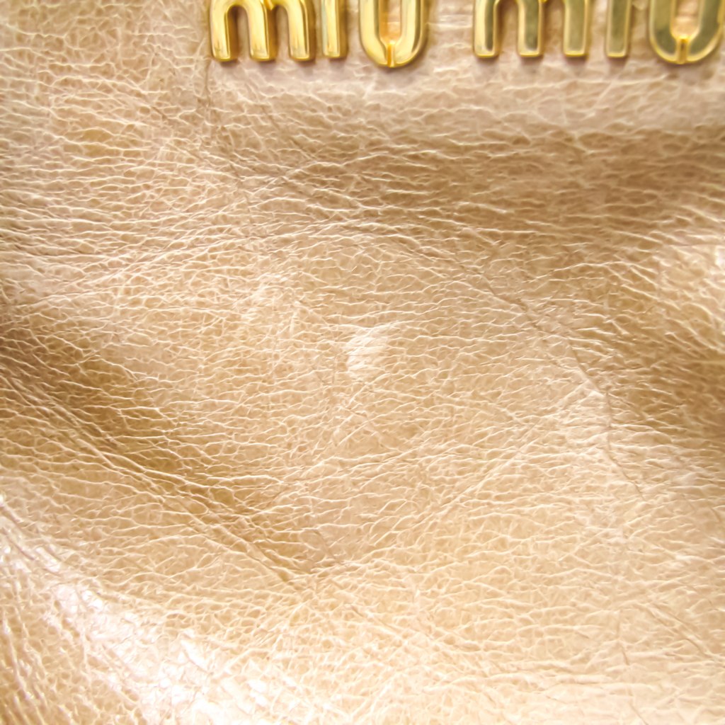 Miu Miu Women's Leather Tote Bag Beige
