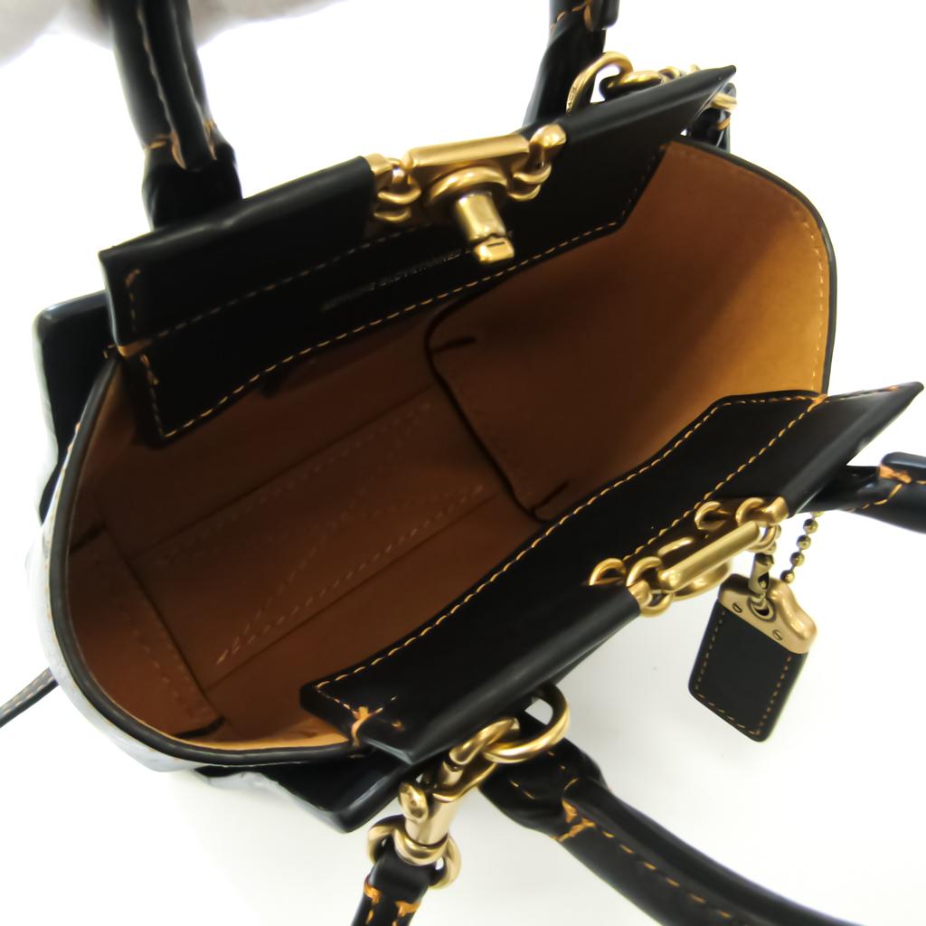 Coach TROUPE TOTE 16 79401 Women's Leather Handbag,Shoulder Bag Black