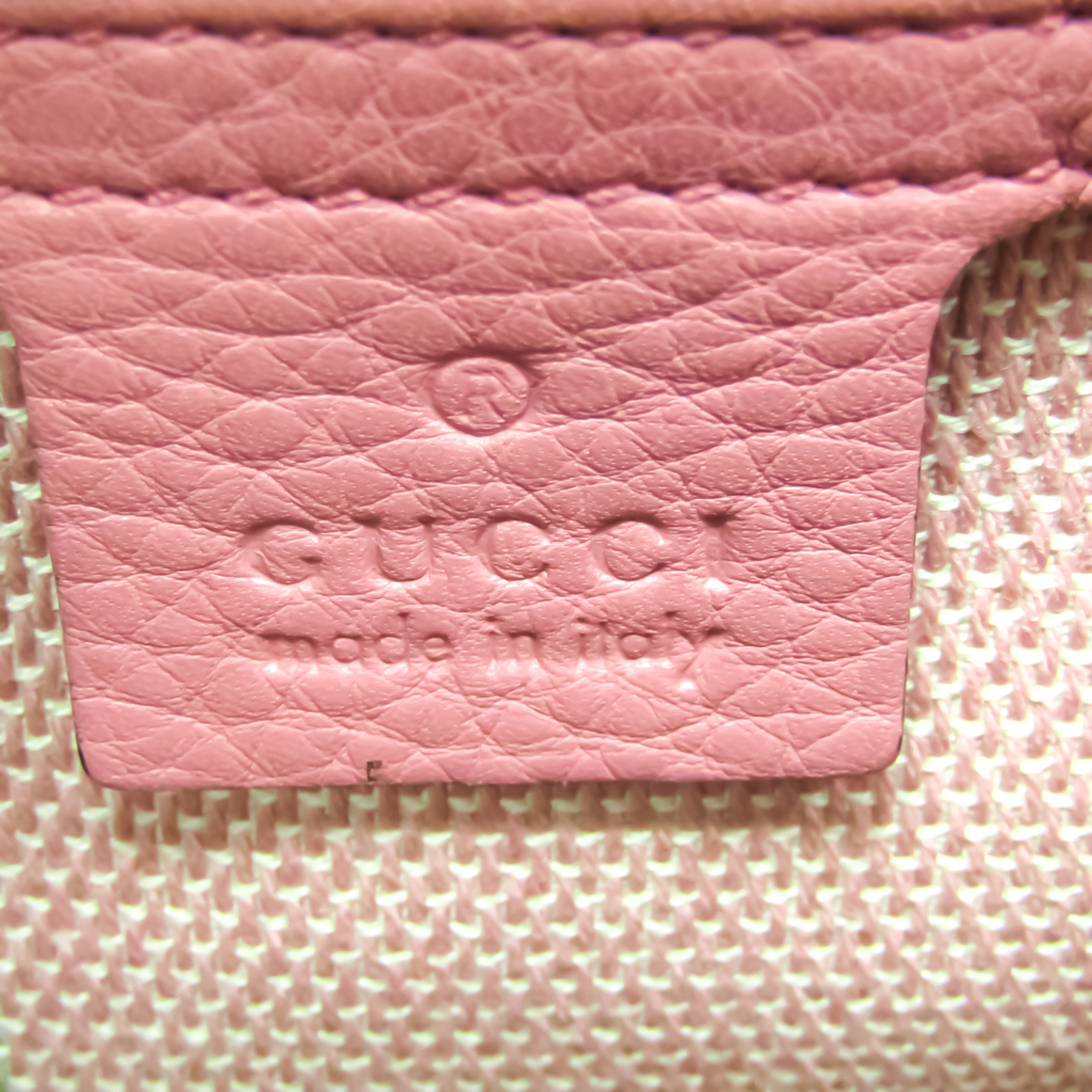 Gucci Bamboo Shopper Medium 336032 Women's Leather,Straw Handbag,Shoulder Bag Beige,Pink