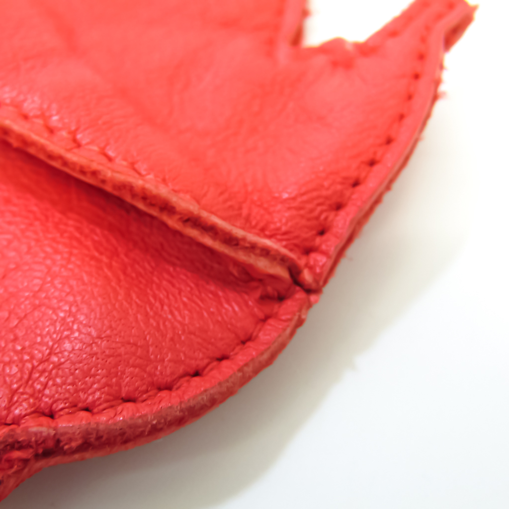 Bottega Veneta 114075 Women's Leather Coin Purse/coin Case Pink Red