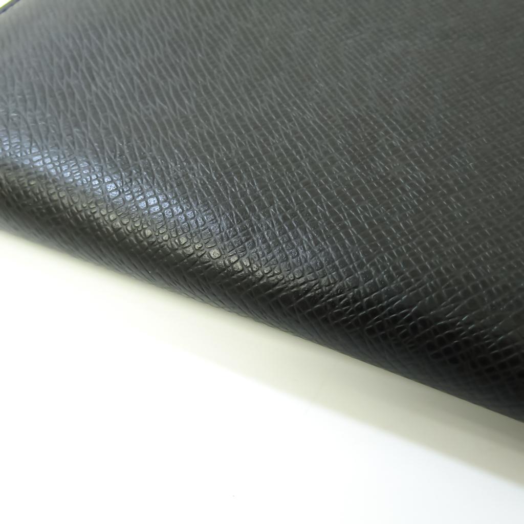 Louis Vuitton Taiga Zippy Organizer NM M30056 Men's Taiga Leather Long Wallet (bi-fold) Noir
