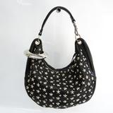 Jimmy Choo Sky Bag Women's Leather Studded Shoulder Bag Black