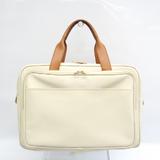 Bottega Veneta 140065 140065 Unisex Leather,PVC Handbag Brown,Off-white